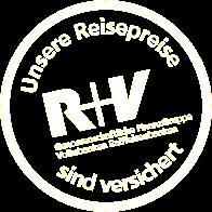 R+V: Unsere Reisepreise sind Versichert